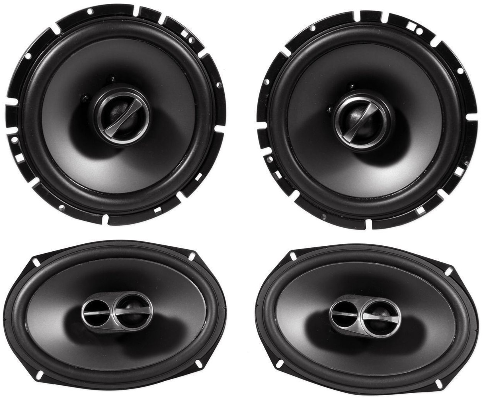 1999-2004 Jeep Grand Cherokee Front + Rear Alpine Factory Speaker Replacement by Alpine