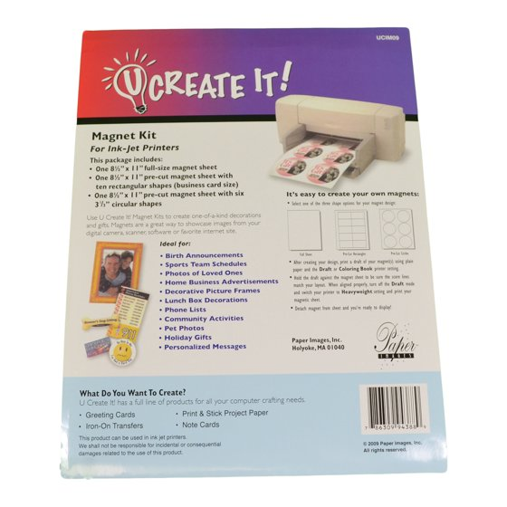 U create it magnet kit print at home business cards save the date 3 u create it magnet kit print at home business cards save the date 3 sheets walmart reheart Choice Image