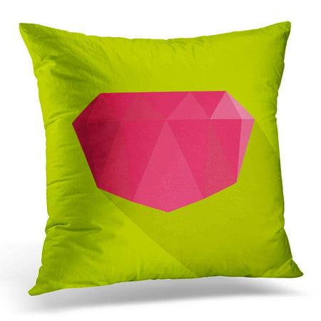 USART Brilliant Crimson Gem Flat of for Carat Pillows case 18x18 Inches Home Decor Sofa Cushion Cover (Crimson Gem)