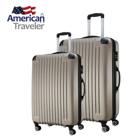 American Traveler Lightweight Anti-scratch 2 Piece luggage Set ...