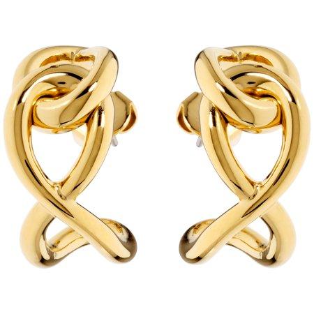 Yellow Gold Steel Linked Fashion Earrings (Onstar Earrings)