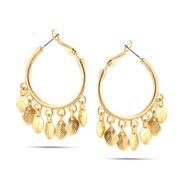 TAZZA WOMEN'S GOLD HOOP EARRINGS