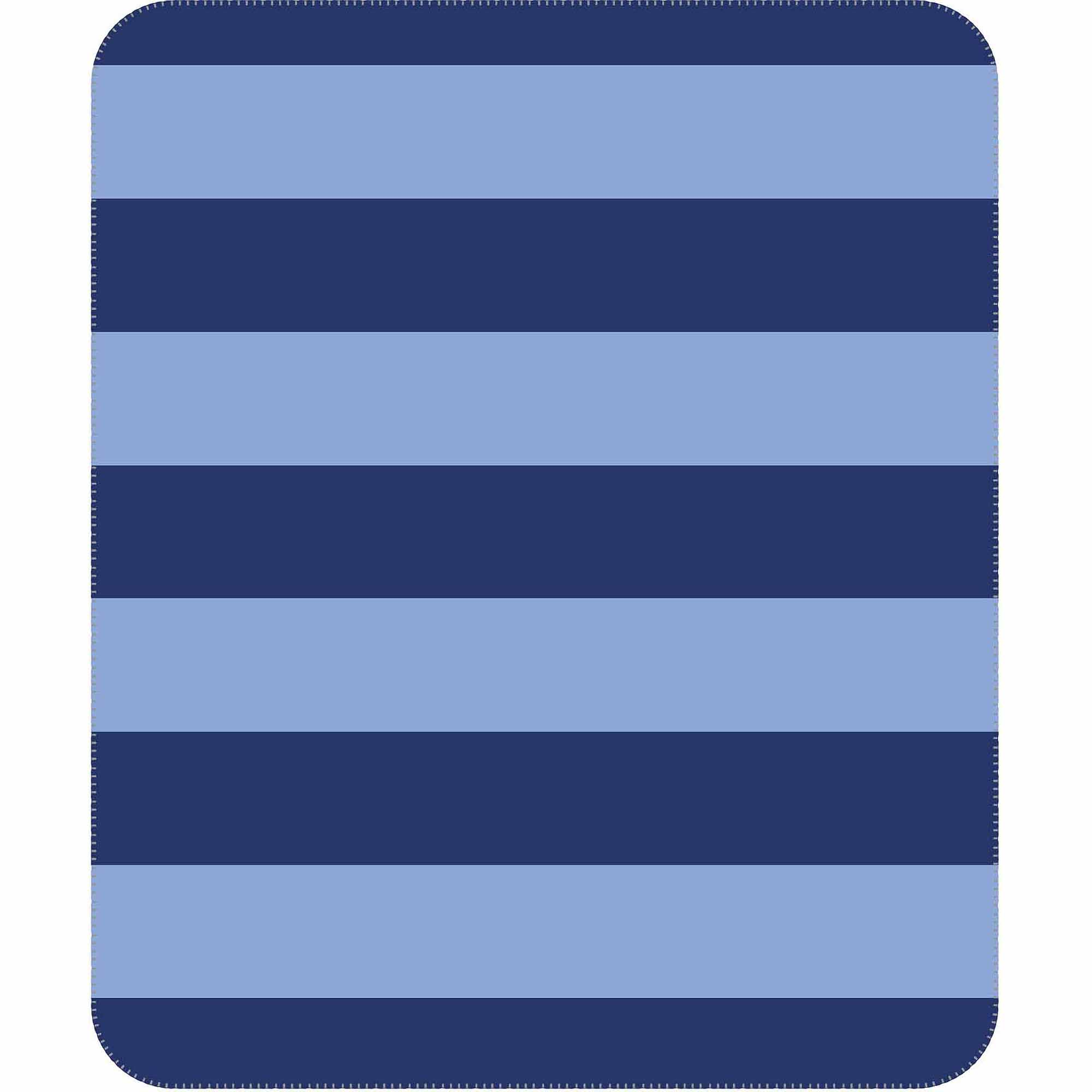 Mainstays Kids Rugby Blanket, Navy