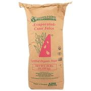 Bulk Wholesome! Organic Cane Sugar, Evaporated Cane Juice, 25 Lb