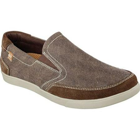 64637 Brown Skechers Shoes Men Memory Foam Sporty Casual Comfort Sneaker  Slip On 64637BRN