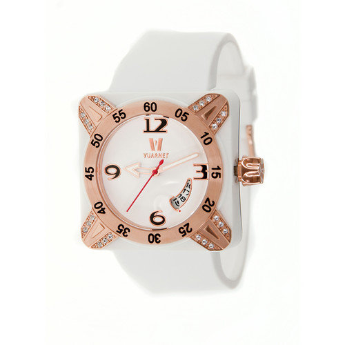 Vuarnet Deepest Lady Ladies Watch in White with Rose Gold Bezel