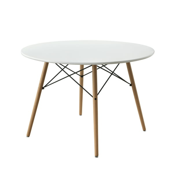 Mainstays Round Mid-Century Modern Dining Table