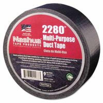 2280 General Purpose Duct Tapes, Black, 55M X 48Mm X 9 Mil