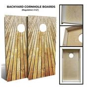 "Slick Woody's 48"" Backyard Board Walk Cornhole Board Set in Natural (8 Bags)"