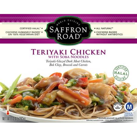 Saffron Road Teriyaki Chicken with Soba Noodles 10oz Frozen Entr?e