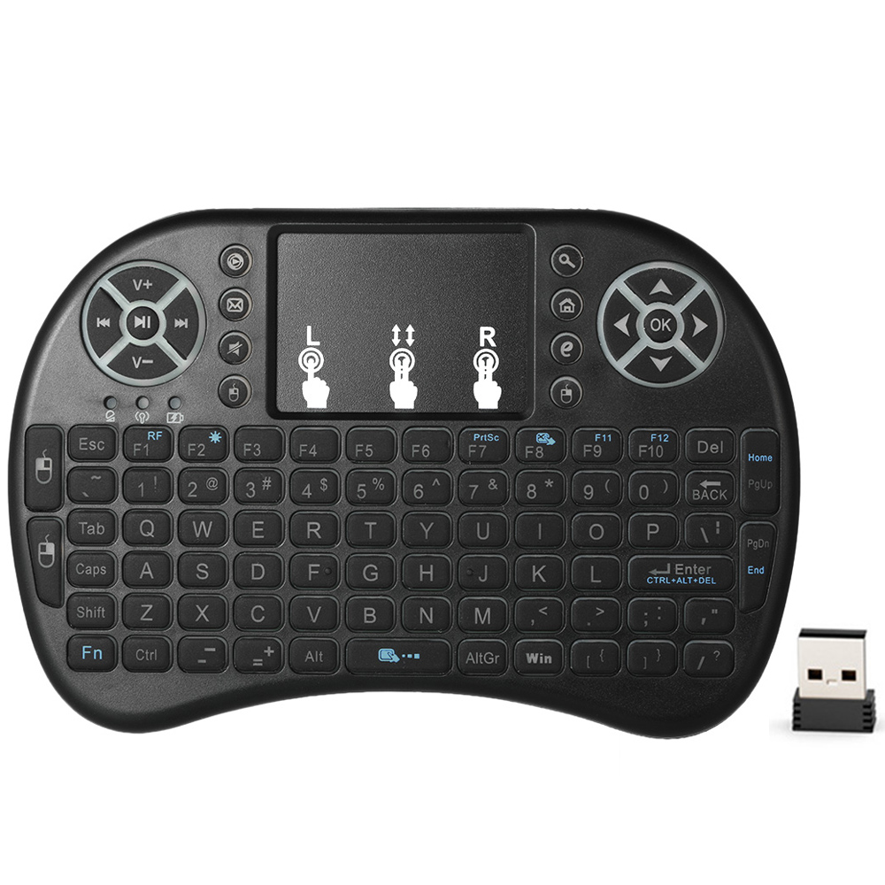 2.4GHz Wireless QWERTY Keyboard Air Mouse Touchpad Backlight for Android TV BOX Smart TV PC