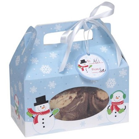 Christmas Gift Boxes For Cookies (48 Snowman & Snowflake Winter Christmas Cookie, Candy & Treat Boxes with)