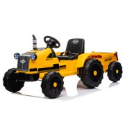 UBesGoo 12V Ride On Tractor Electric Rugged 6-Wheeler Ride-On Car for Kids with Remote Control