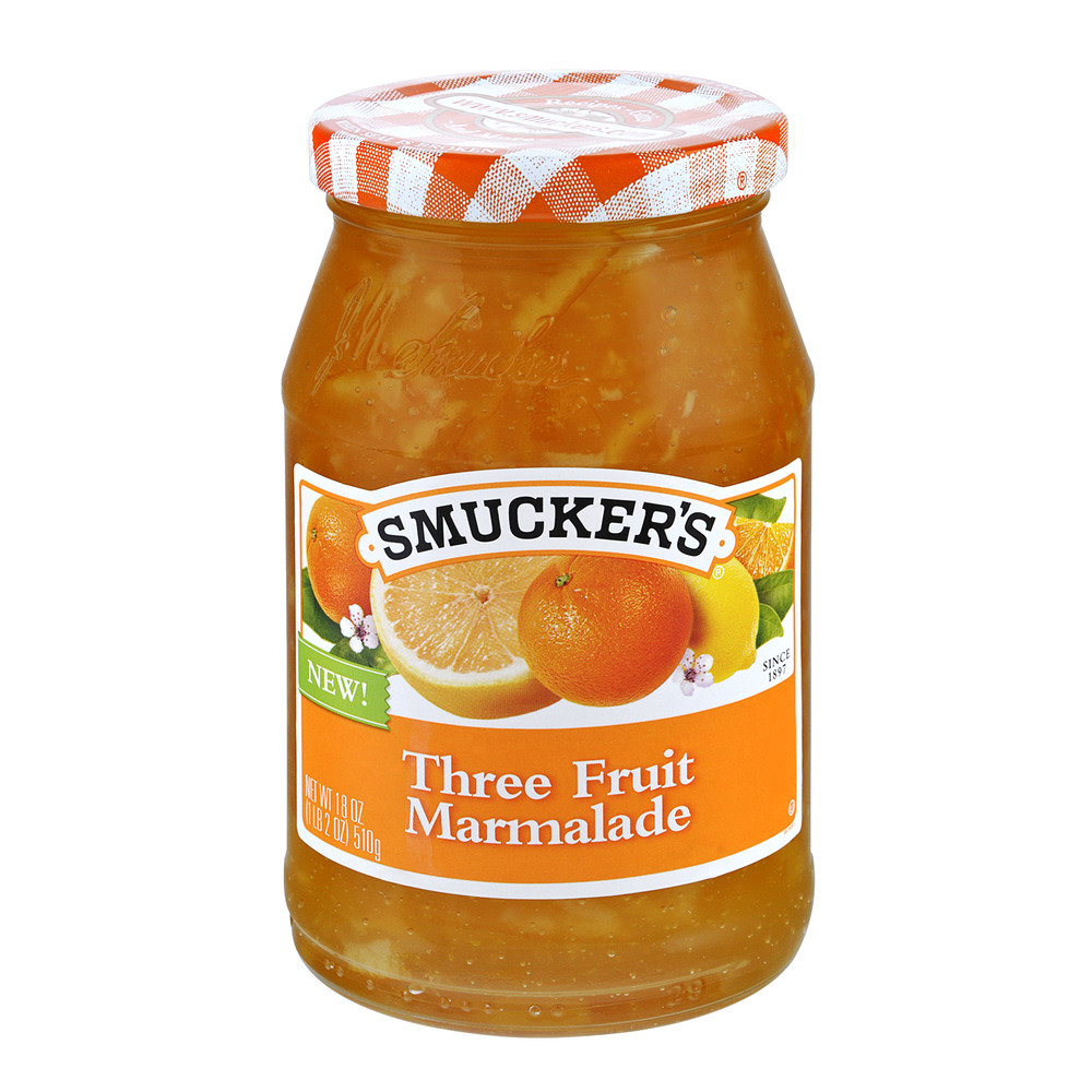 Smucker's Three Fruit Marmalade, 18.0 OZ