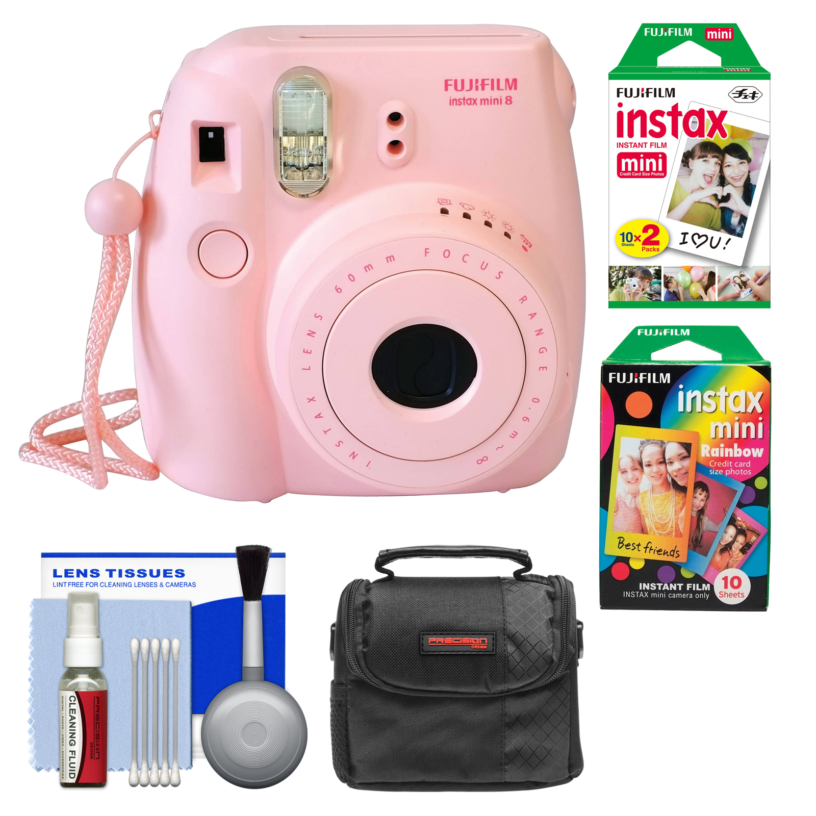 Fujifilm Instax Mini 8 Instant Film Camera Pink With Instant Film