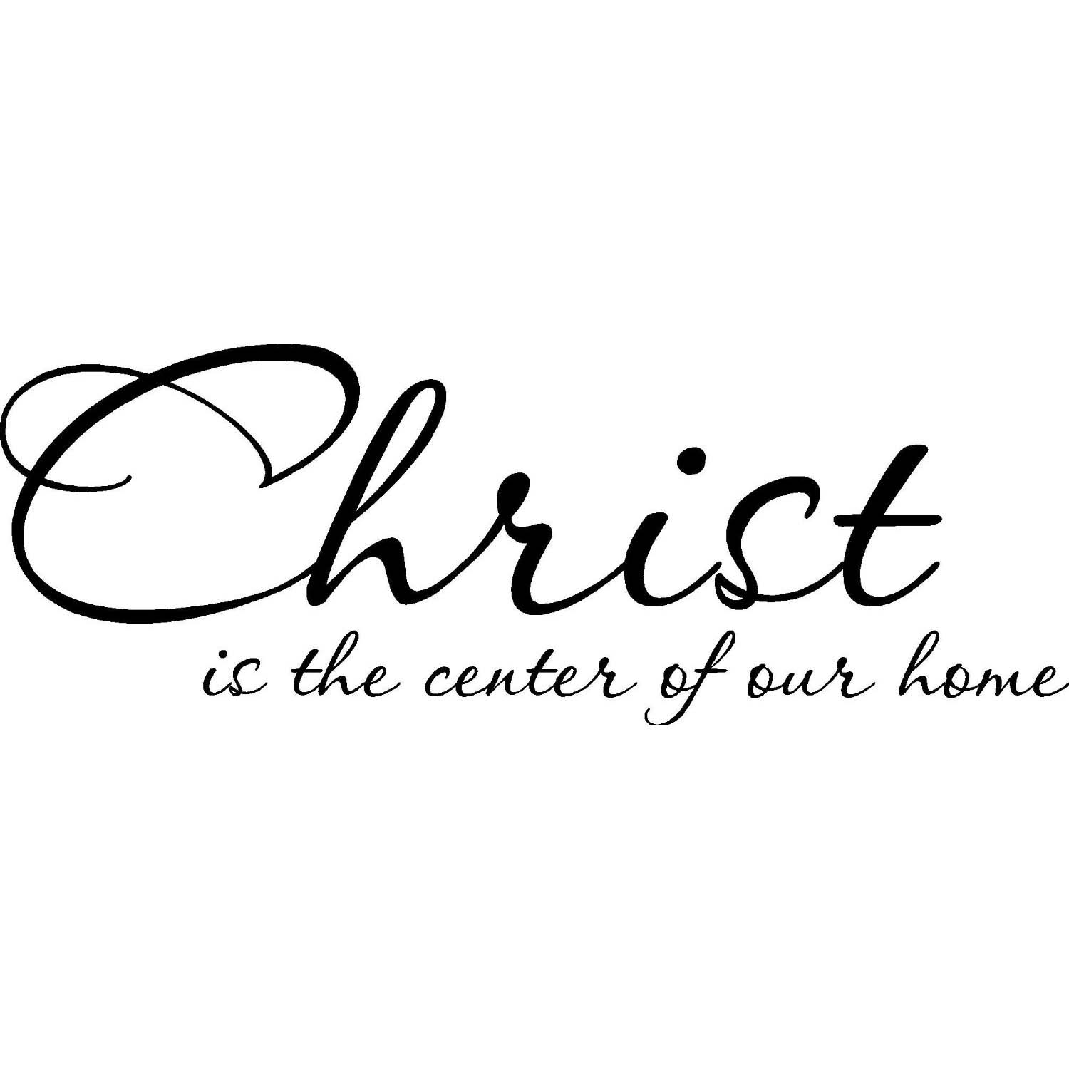 Vinyl Designs 'Christ is the Center of our Home' Vinyl Wall Art Lettering