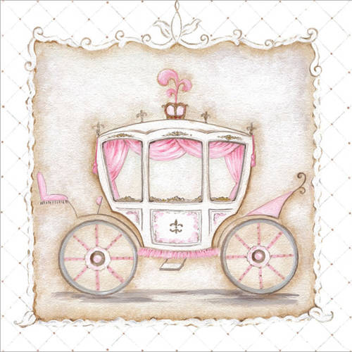 Oopsy Daisy's Little Princess Carriage III Canvas Wall Art, Size 10x10