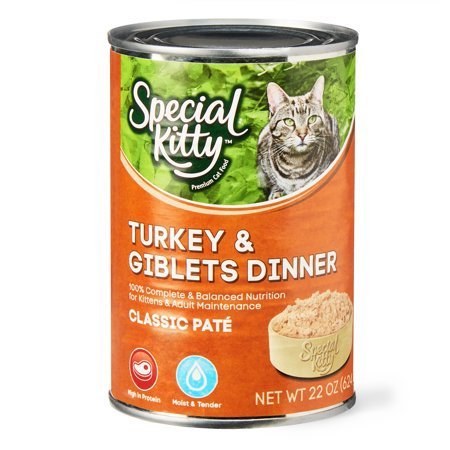 Special Kitty Turkey and Giblets Dinner Classic Pate, 22 oz - Hello Kitty Pave