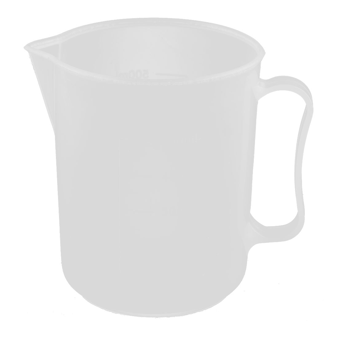 Lab Kitchen Plastic Water Liquid Graduated Measuring Cup Clear White 500ml by Unique-Bargains