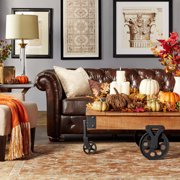 iNSPIRE Q Knightsbridge Brown Bonded Leatr Tufted Scroll Arm Csterfield Loveseat by  Artisan
