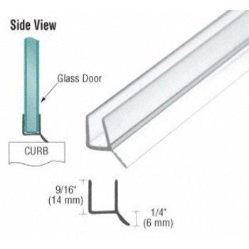 crl frameless shower door seal for 3/8-inch glass, 98-inches long (can be cut - Crl Shower Doors