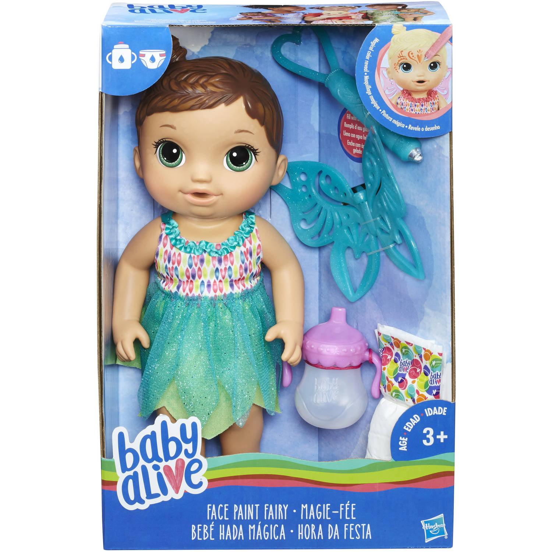 Baby Alive Face Paint Fairy Brunette Walmart Com Walmart Com