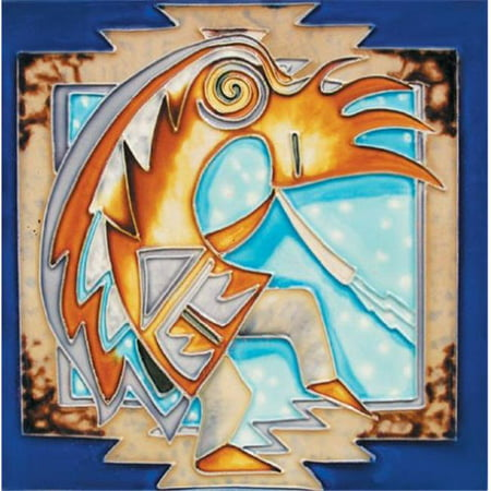 En Vogue B-196 Kokopelli - Decorative Tile Art C-ramique -. 8 po x 8 po. - image 1 de 1