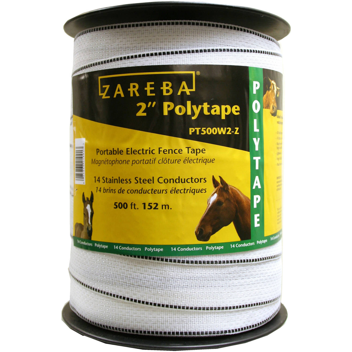 "Zareba 2"" Wide 500' White Poly Tape"