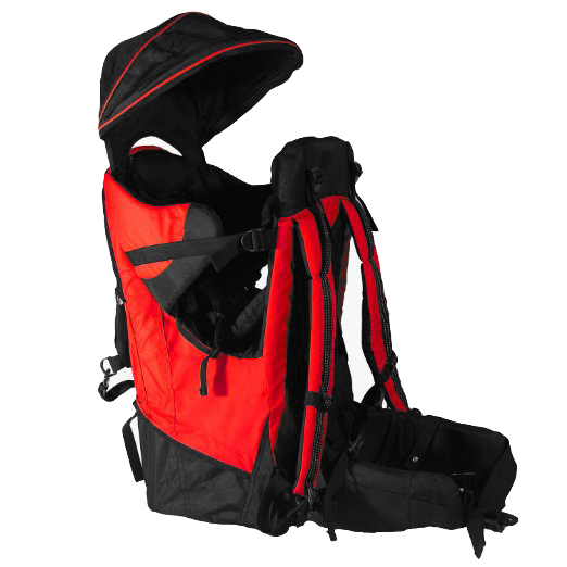 Deluxe Red Baby Toddler Backpack Cross Country Carrier w  Stand and Sun Shade by Clevr