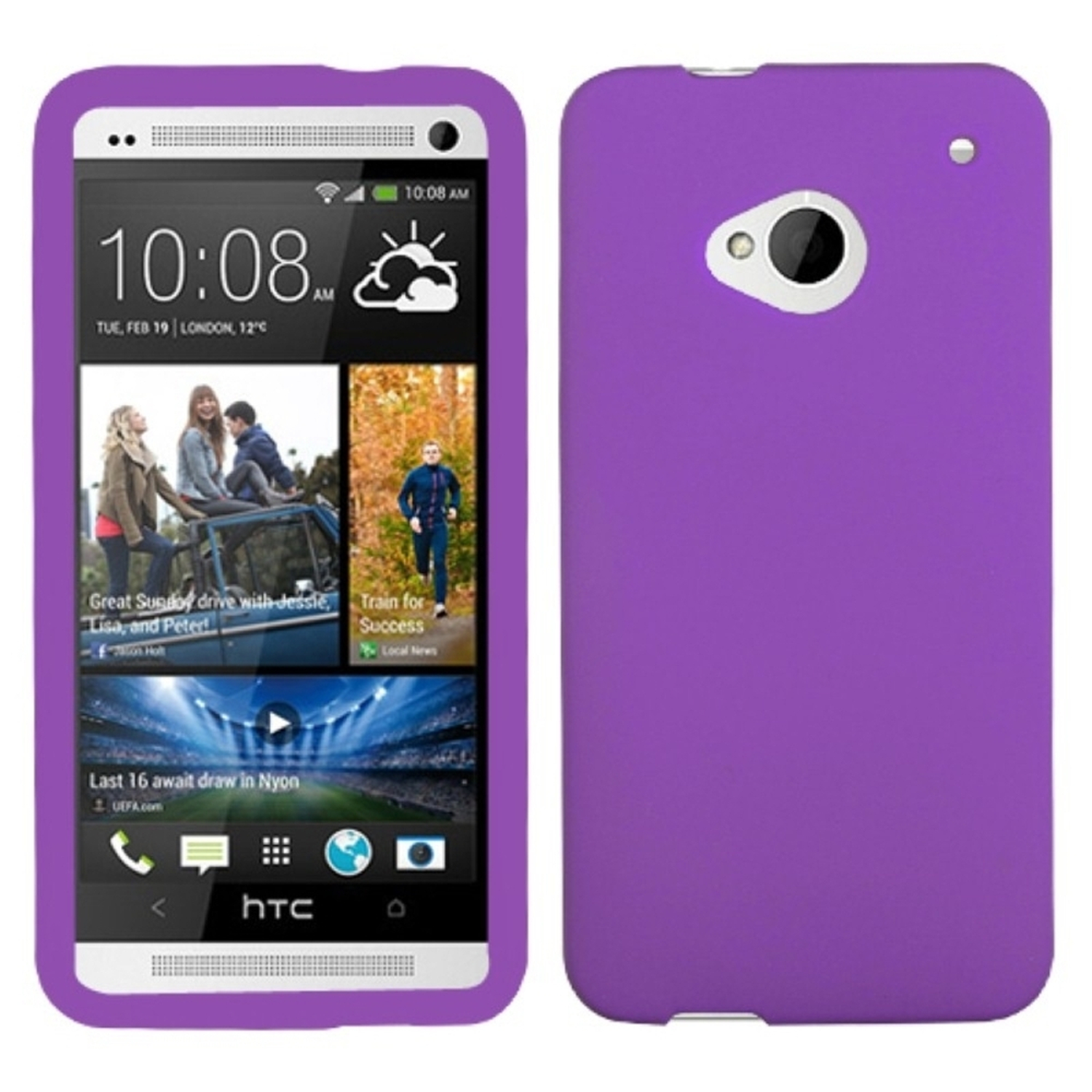 Insten Solid Skin Case (Electric Purple) for HTC: One/M7