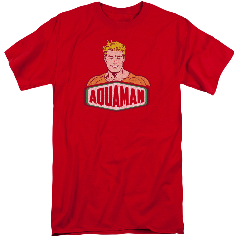 DCO Aquaman Sign Mens Big and Tall Shirt