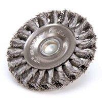 WEILER 94034 Knot Wire Wheel Wire Brush, Stem, 3-1/4