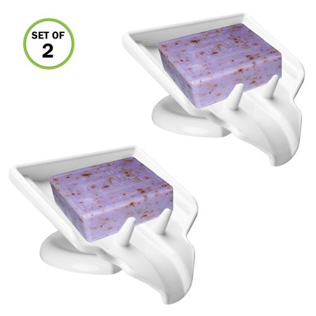 Evelots Soap Dish/Holder-Waterfall-Soap Saver/Dryer-Drain-No Mushy Soap, - Draining Soap Dish