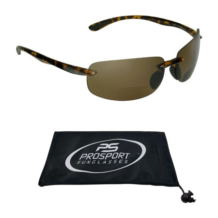 POLARIZED Bifocal Reading Sunglasses Brown Tinted for Men and (Polarized Glasses Without Tint)