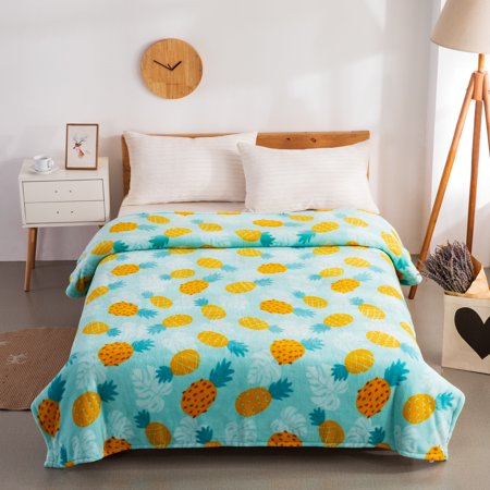 Mainstays Plush Queen Pineapple Bed Blanket