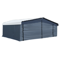Arrow 20' x 20' Enclosure Kit for Carport, Grey