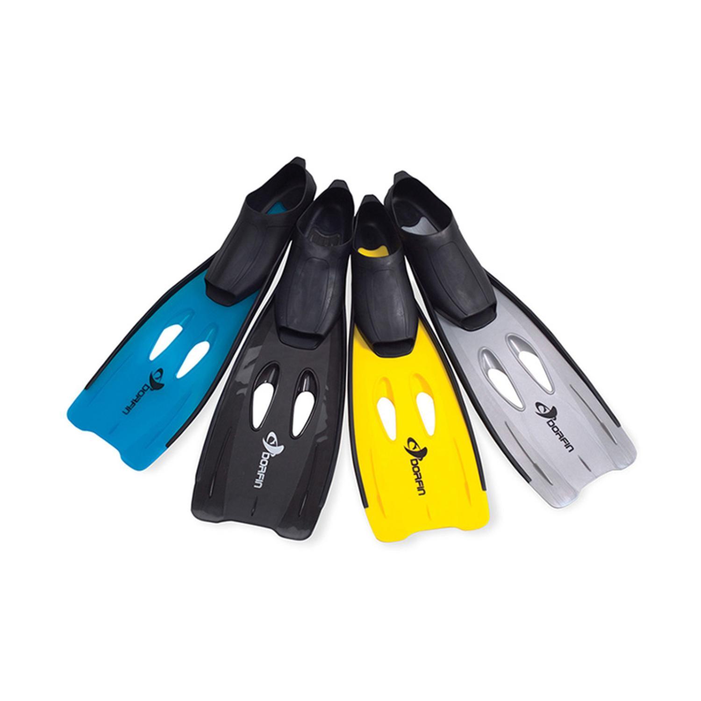 Blue Dorfin Swimming Pool Scuba or Snorkeling Fins with Nylon Mesh Bag - Medium/Large
