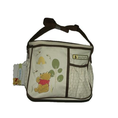 Disney Pooh & Friends Zip Top Pockets Boys Girls Grey Mini Diaper Bags