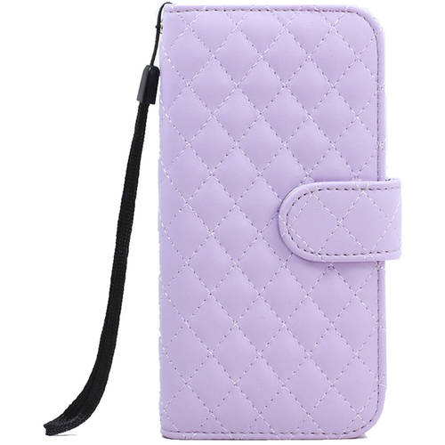 """KIKO Wireless Quilted Flip PU Leather Wallet Case with Strap for Apple iPhone 6 Plus, 5.5"""""""