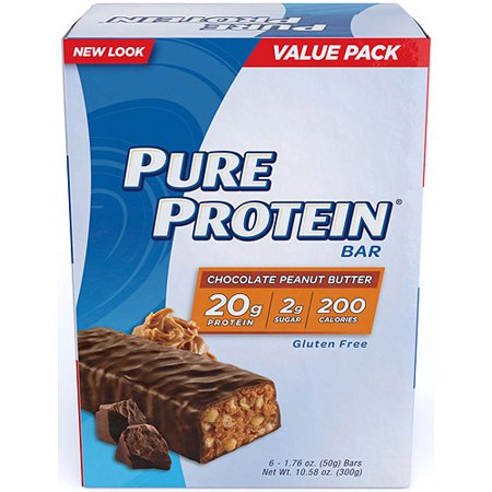 Pure Protein Bar, Chocolate Peanut Butter, 20g Protein, 6 (Best Chocolate Peanut Butter Bars)