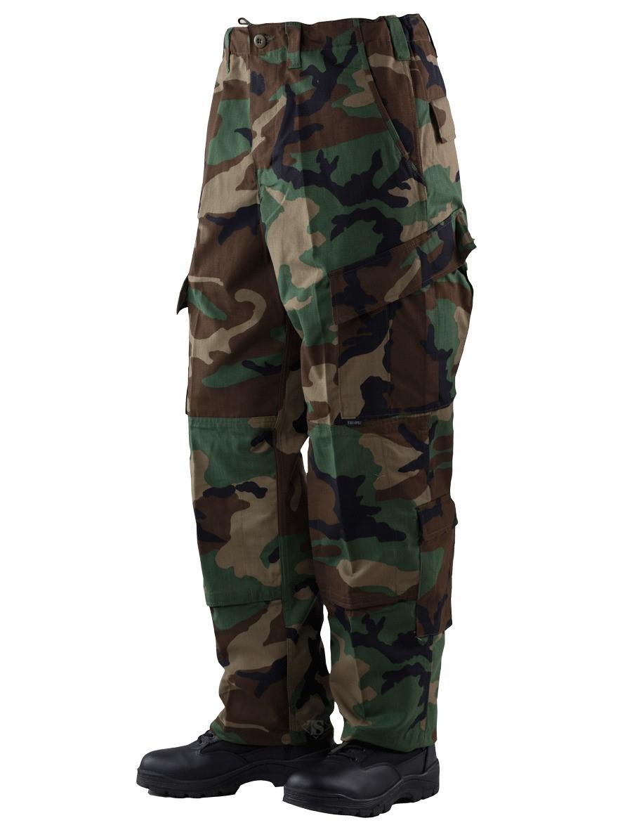 TRU Trousers Woodland 50/50 Nylon, Cotton Rip-Stop, Large Short