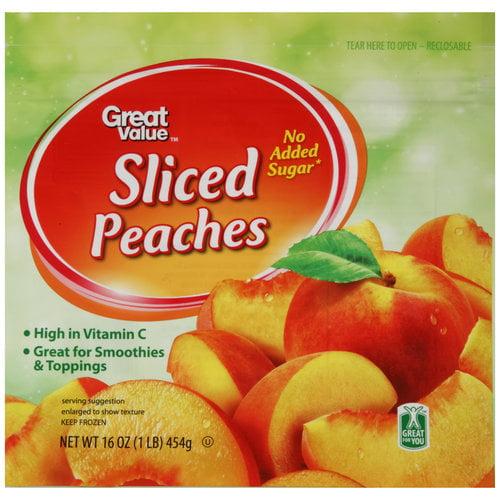 Great Value Sliced Peaches 16 Oz Walmart Com