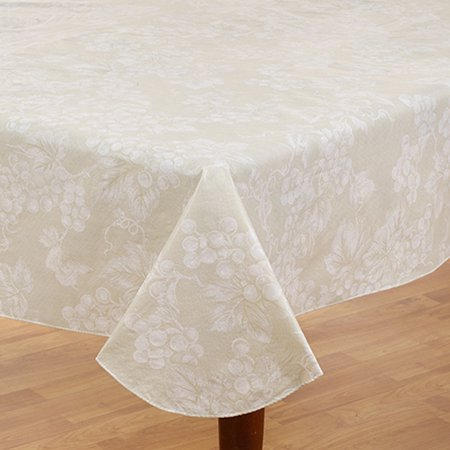 Grapevine Collection Vinyl Flannel Back Tablecloth 60