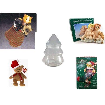 73d7a7f3f0b Christmas Fun Gift Bundle  5 Piece  - Hallmark Three Kittens in a Mitten  Ornament