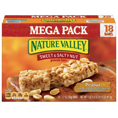Nature Valley Sweet & Salty Nut Peanut Granola Bars 18 Count