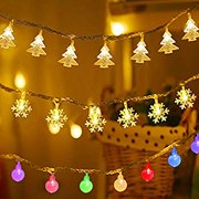 String Light(Snowflake,Christmas Tree,Spherical String),Perfect for Outdoor and Indoor Use, Christmas Party Decorations