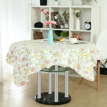 Pink Vinyl Tablecloth (Vinyl Tablecloth Square Tables 53