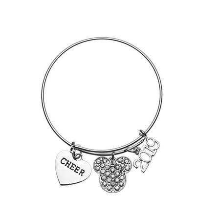 Cheerleader Christmas Gifts (2019 D2 Cheerleading Summit Bracelet for Cheerleaders, Cheer Bracelet, Cheerleader Gift,Summit Gift, D2 Summit Disney, Rhinestone)