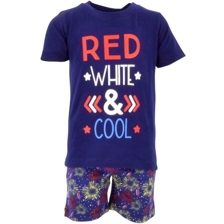 Boys Red, White & Cool 2 Piece 4th of July Outfit (8) - Cool Everyday Outfits