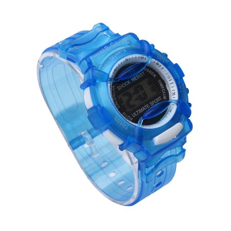 iLH Mallroom Boys Girls Children Students Waterproof Digital Wrist Sport Watch Blue